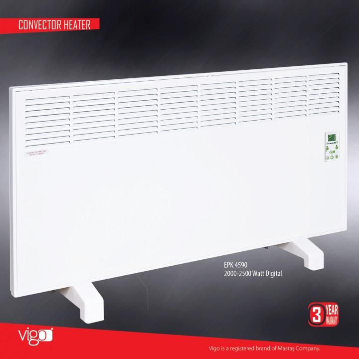 Электрический конвектор MASTAS Vigo 2500 W с электронным термостатом