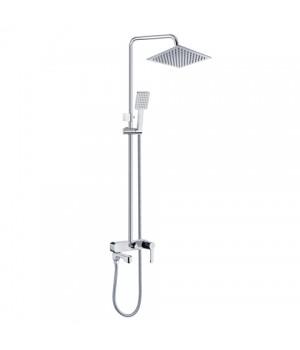 Душевой гарнитур PERLA VINCHI для ванны с колонной хром с аксессуарами