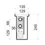 Внутрипольный конвектор принудительной конвекции Polvax KV.135.1500.245