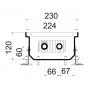 Внутрипольный конвектор естественной конвекции Polvax KE.230.1000.120
