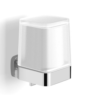 Дозатор для жидкого мыла VOLLE Teo c нижним нажимом матовое стекло/хром
