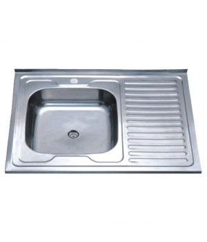 Кухонная мойка накладная ZERIXZ8060L-04-160E satin