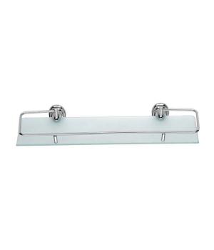 Полка стеклянная с откидным ограничителем ZERIX LR1507-1